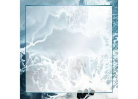 抽象蓝色垃圾水彩画背景上的矩形边框_124593800101
