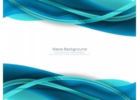 抽象蓝色波浪背景_128486700101