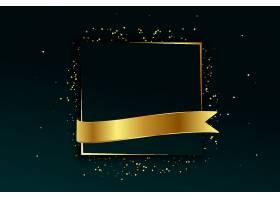 带有文本空间的金色框架和带状背景_91918070101