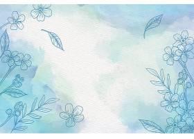 手绘元素的水彩背景_123000270102