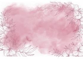 手绘元素的水彩背景_128123070102