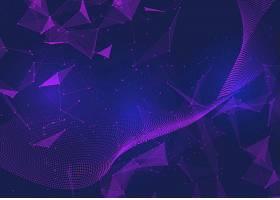 具有低多边形设计的抽象网络通信背景_101353030101