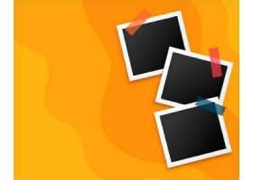 三个黄色背景相框设计_100167140101