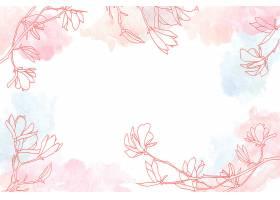 具有花卉手绘元素的水彩临摹空间背景_122630720102