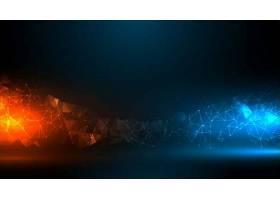 具有蓝橙光效果的数字技术背景_101367590101
