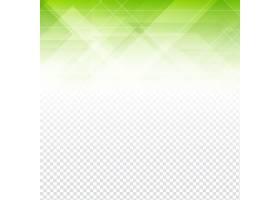 具有透明背景的绿色多边形抽象形状_10767520101