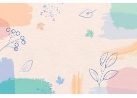 冬季背景带有粉色画笔和树叶_111395470101