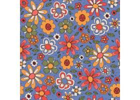 五颜六色时髦的手绘花纹_128128710101