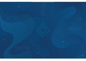 几何形状的抽象经典蓝色背景_66897250101