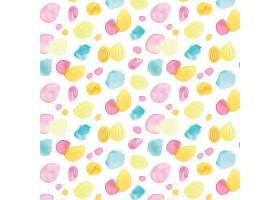 五颜六色的水彩画点点图案_128128760101