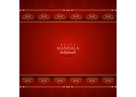 优雅的红色背景曼陀罗图案_12093470101