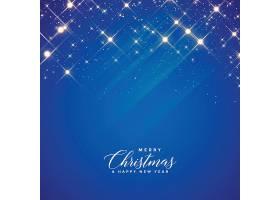 圣诞季节美丽的蓝色闪闪发光的背景_31736820101