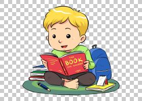 看书的男孩