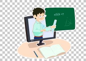网络课堂-线上教学卡通手绘素材1(数学)