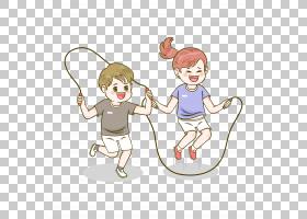 运动会跳绳的孩子