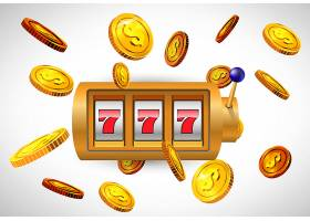 幸运的七号老虎机和飞扬的金币赌场商业广_201