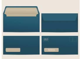 矢量邮件信封为您的设计准备空白纸质信封_101
