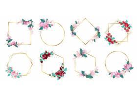 婚庆标志及品牌标志设计水彩花框_8846467
