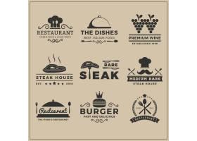 餐厅徽标模板集合_983341