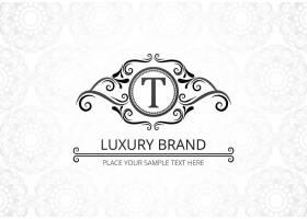 高级奢侈品创意字母t公司徽标_9121582