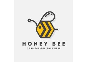 蜜蜂标志模板设计_1080597