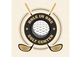 详细的复古高尔夫徽标模板_12505311