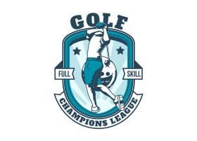 详细的复古高尔夫徽标模板_12688542