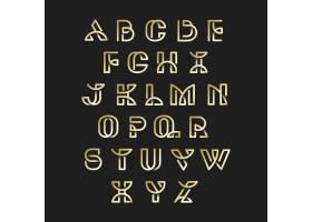 金色复古字母向量集_3600949