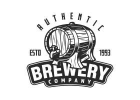 老式啤酒厂徽标模板_8084237