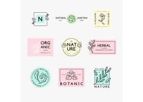 自然的商业徽标集合风格简约_6240459