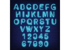 英文字母和数字蓝色字母的霓虹灯招牌_2438135
