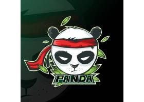 熊猫吉祥物标志运动游戏_11760508
