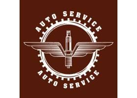 汽车维修服务徽标_5604902
