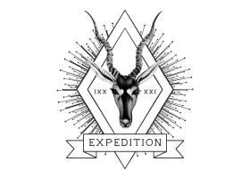 探险旅游标志设计矢量_3428171