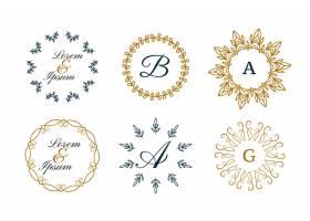 曼陀罗风格的婚礼字母或装饰标志套装_8865933