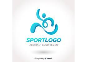 抽象体育标志平面设计_4927924
