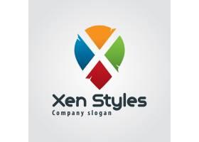 抽象彩色字母x徽标_817815