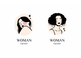 手绘女性标志模板_12552522