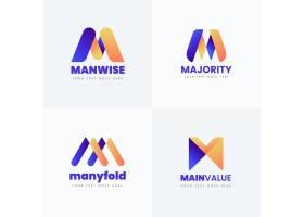 字母m徽标收藏的各种设计_9260210