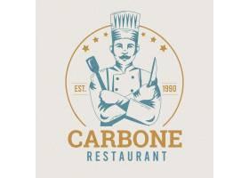 复古餐厅徽标模板_7114894