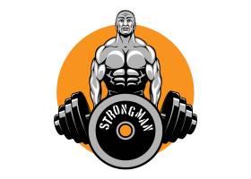 健美运动员和健身俱乐部标志_11053467