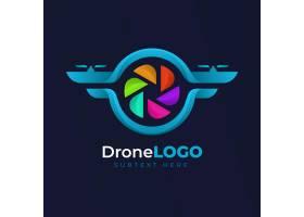 LOGO网页模板彩色无人机设计_12260676