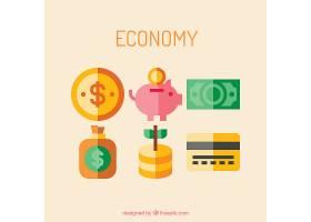 绿色和黄色的经济图标_760312