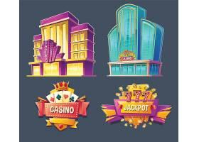 赌场建筑和招牌的图标_1442370