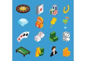 赌场等距图标集_1536704