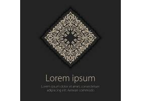 邀请函带有民族阿拉贝斯式元素的卡片阿_6539015