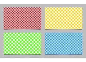 抽象网点图案名片背景模板设计彩色圆圈集矢_1266092