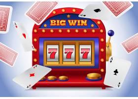 幸运七号老虎机和飞来飞去的扑克牌赌场商_2541232