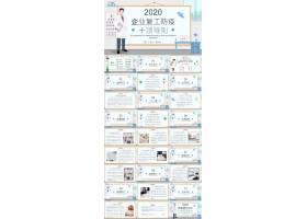 2020企业复工防疫十项导则ppt模板