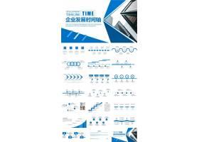 大气简约风企业发展时间轴ppt模板简约总结ppt,简约大气ppt,企业